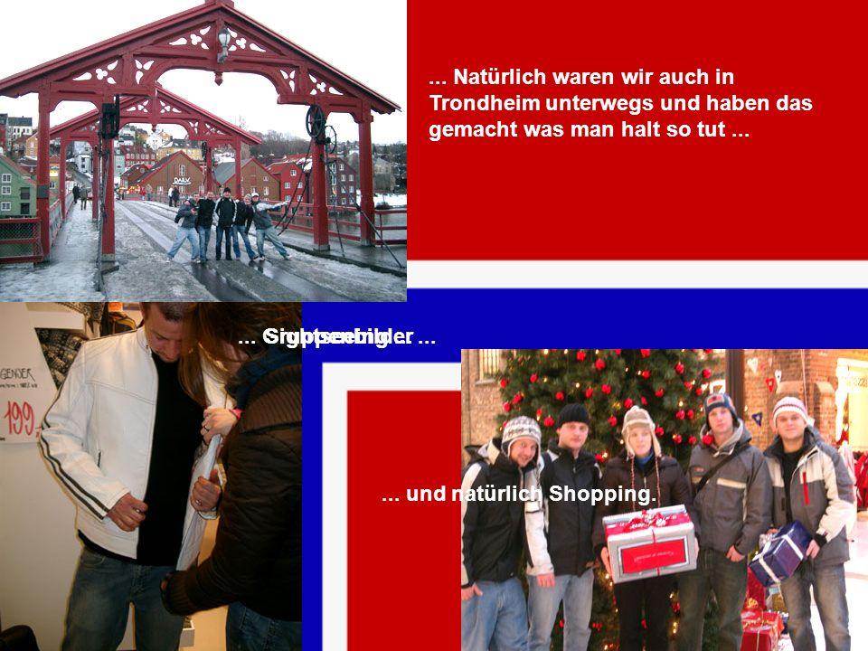 ... Natürlich waren wir auch in Trondheim unterwegs und haben das gemacht was man halt so tut ...