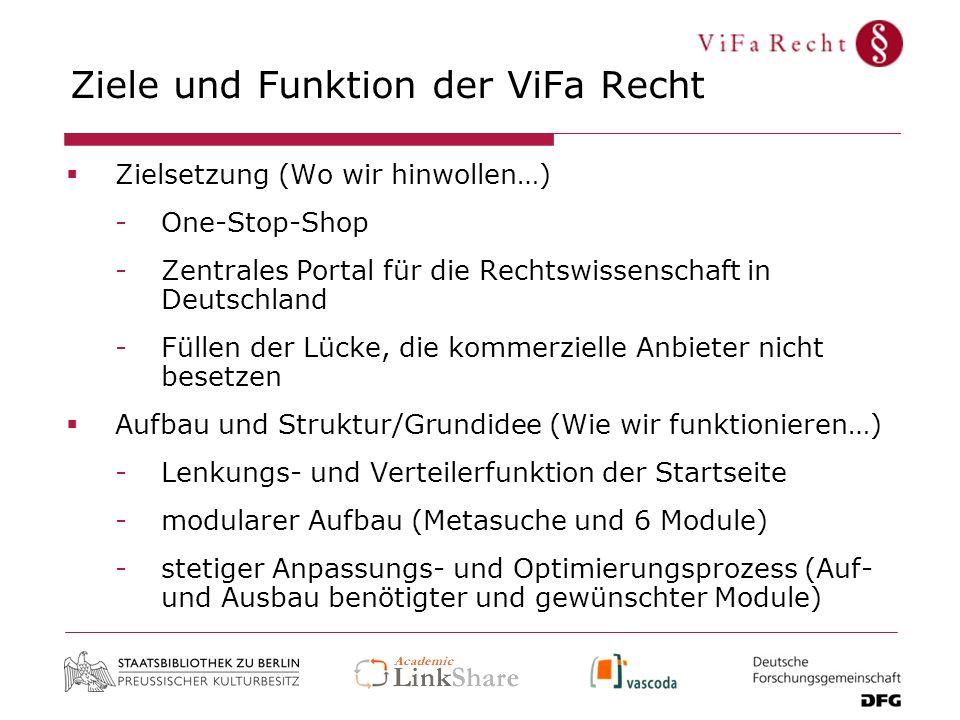 Ziele und Funktion der ViFa Recht