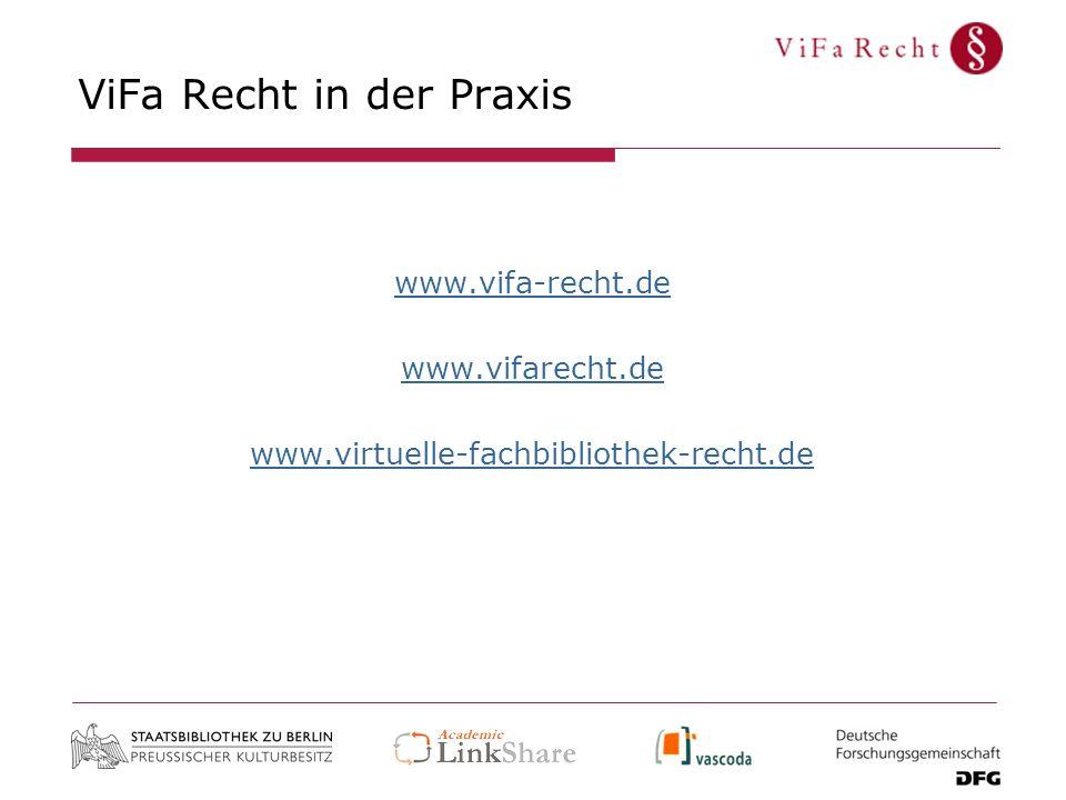ViFa Recht in der Praxis