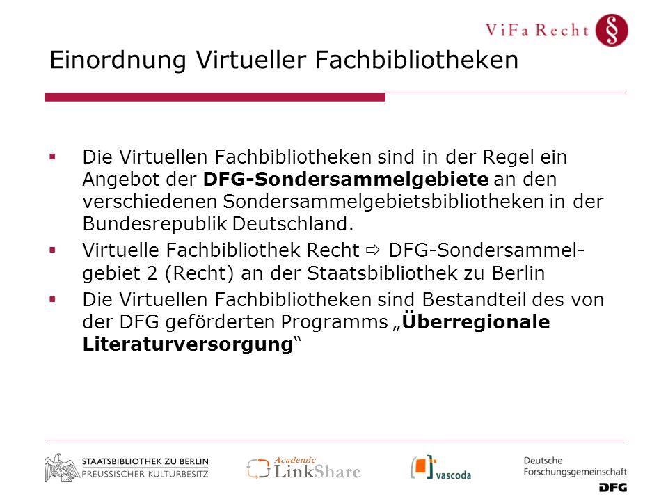 Einordnung Virtueller Fachbibliotheken