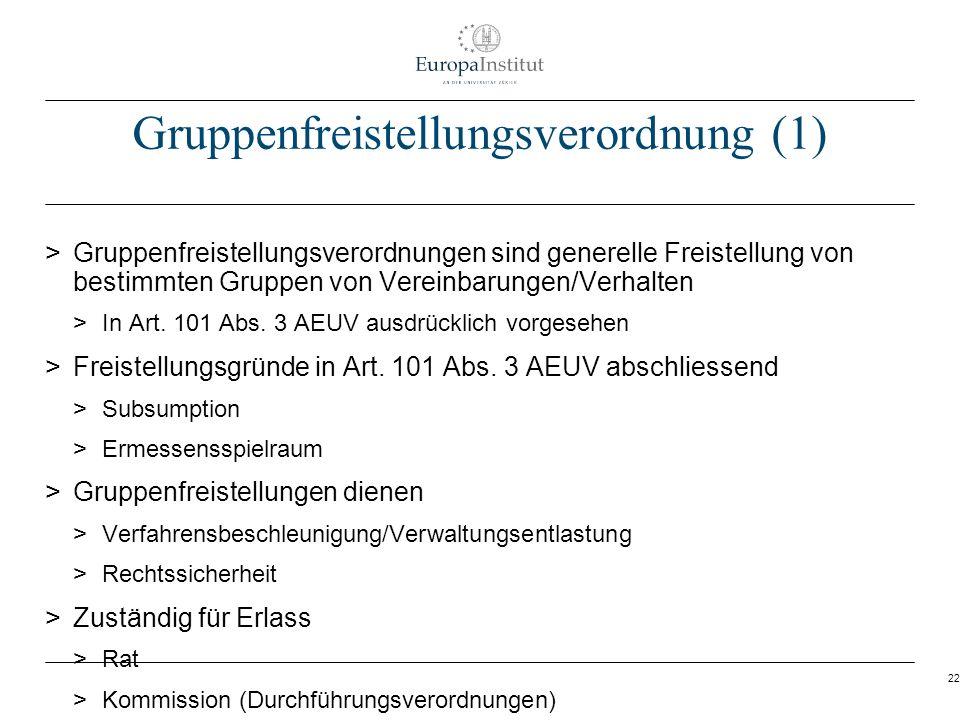 Gruppenfreistellungsverordnung (1)