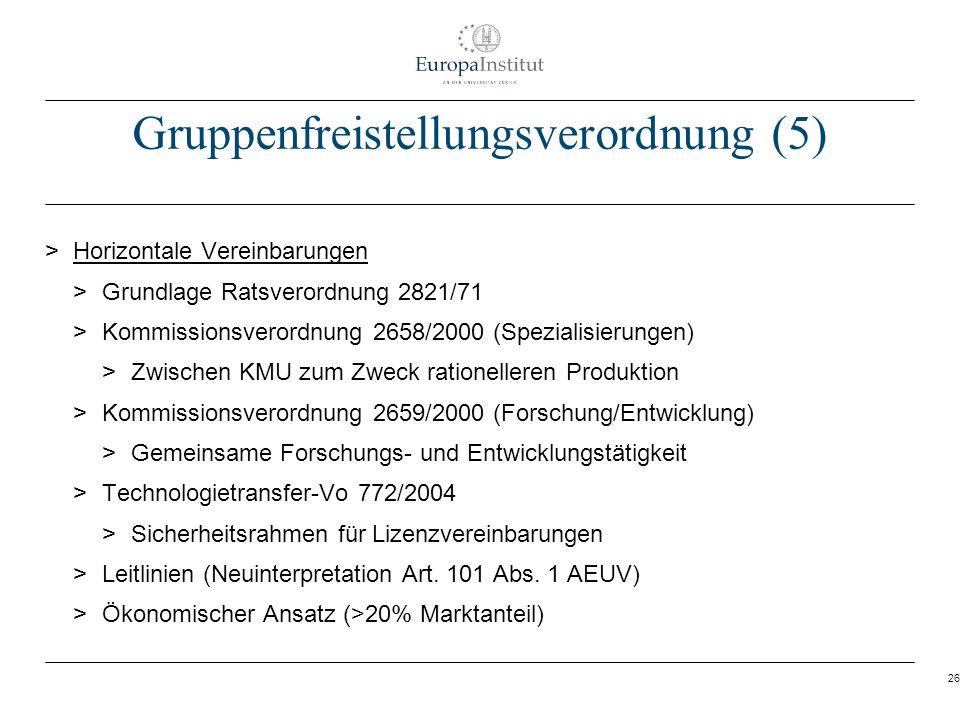 Gruppenfreistellungsverordnung (5)
