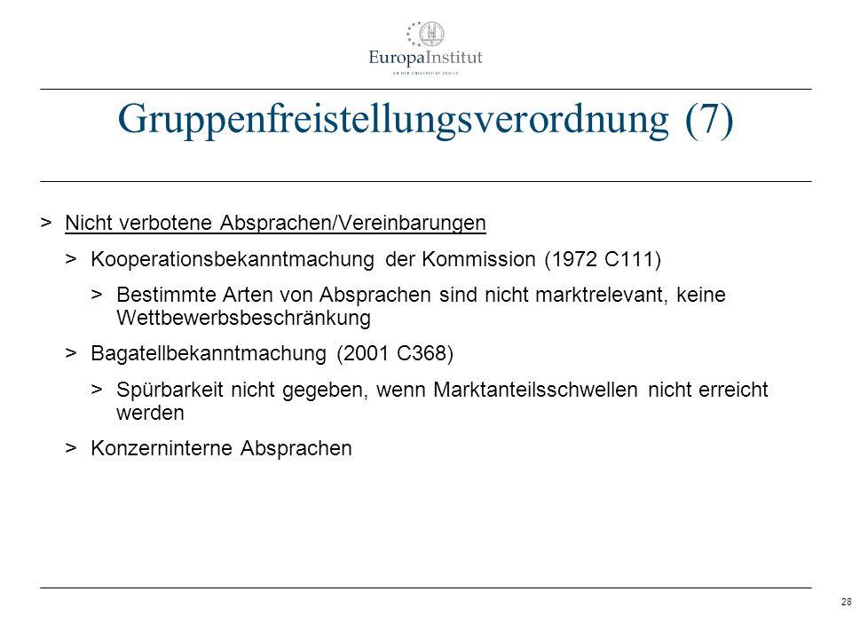 Gruppenfreistellungsverordnung (7)