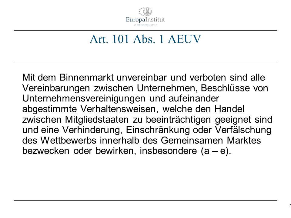 Art. 101 Abs. 1 AEUV