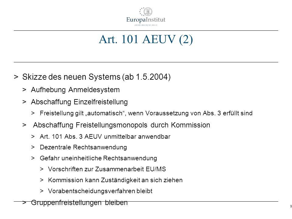 Art. 101 AEUV (2) Skizze des neuen Systems (ab 1.5.2004)