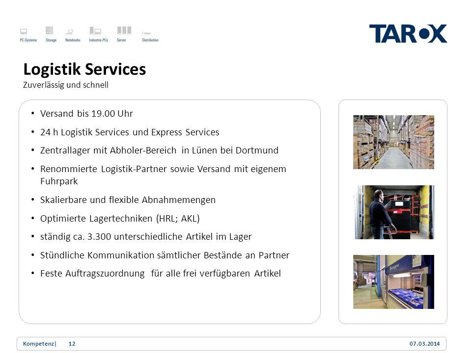 Logistik Services Versand bis 19.00 Uhr
