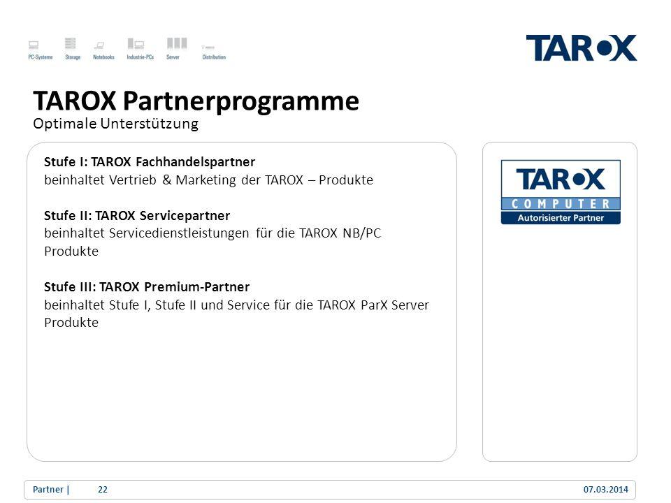 TAROX Partnerprogramme