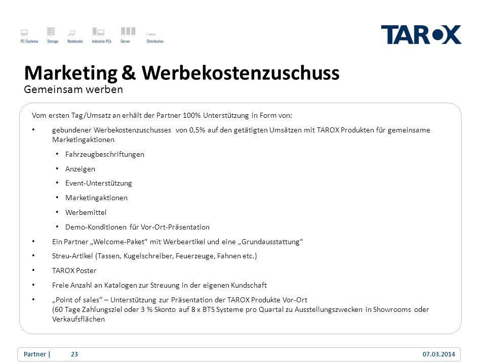 Marketing & Werbekostenzuschuss