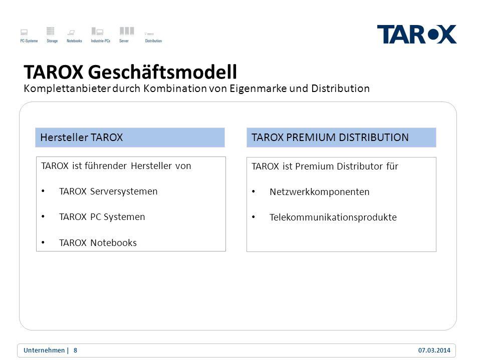 TAROX Geschäftsmodell