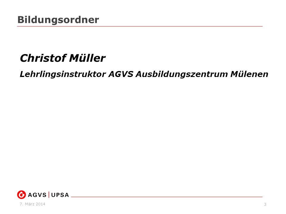 Christof Müller Bildungsordner