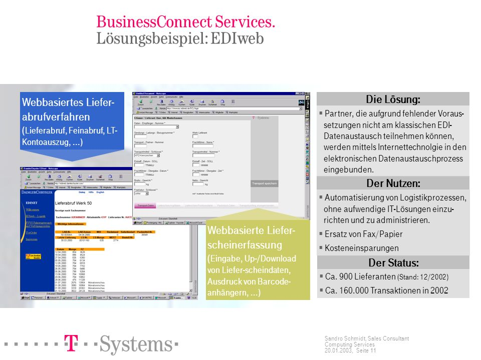 BusinessConnect Services. Lösungsbeispiel: EDIweb