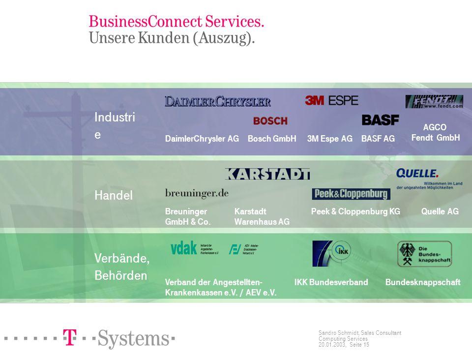 BusinessConnect Services. Unsere Kunden (Auszug).