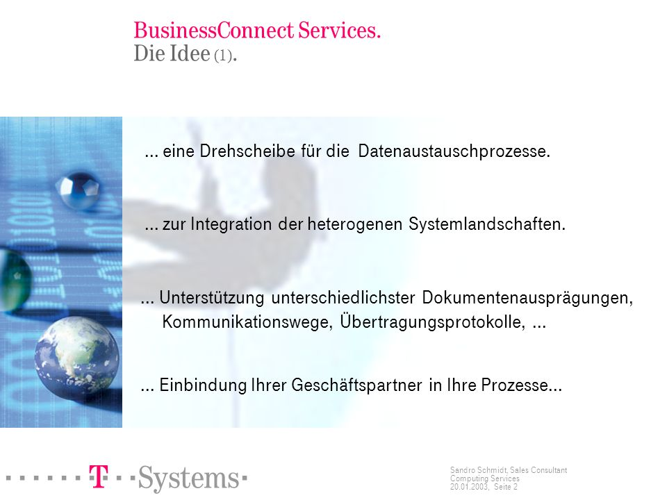 BusinessConnect Services. Die Idee (1).