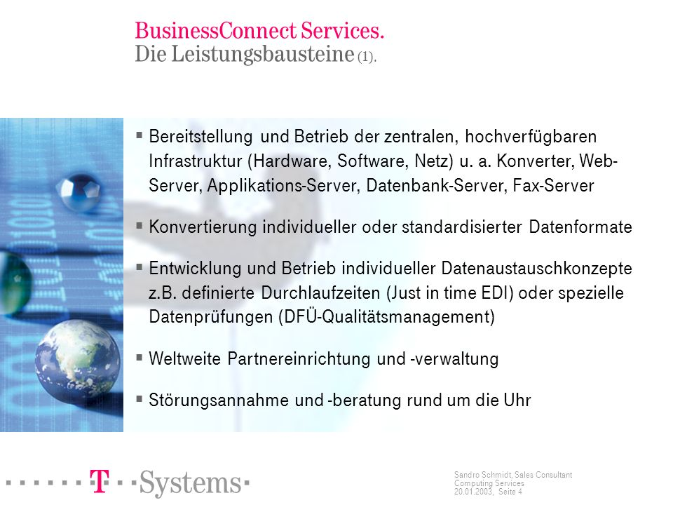 BusinessConnect Services. Die Leistungsbausteine (1).