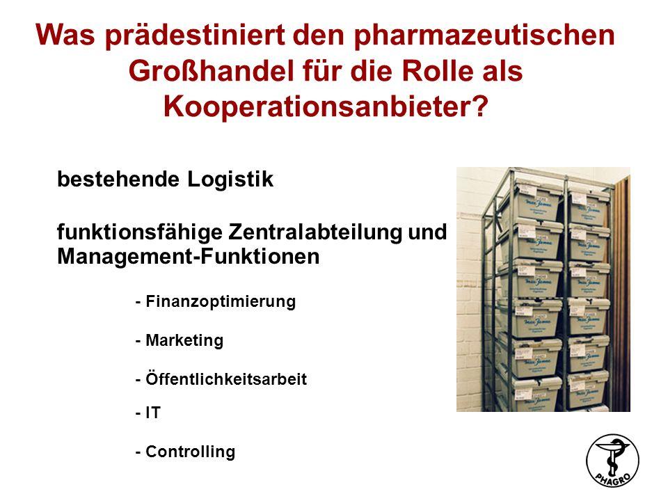 Was prädestiniert den pharmazeutischen Großhandel für die Rolle als Kooperationsanbieter