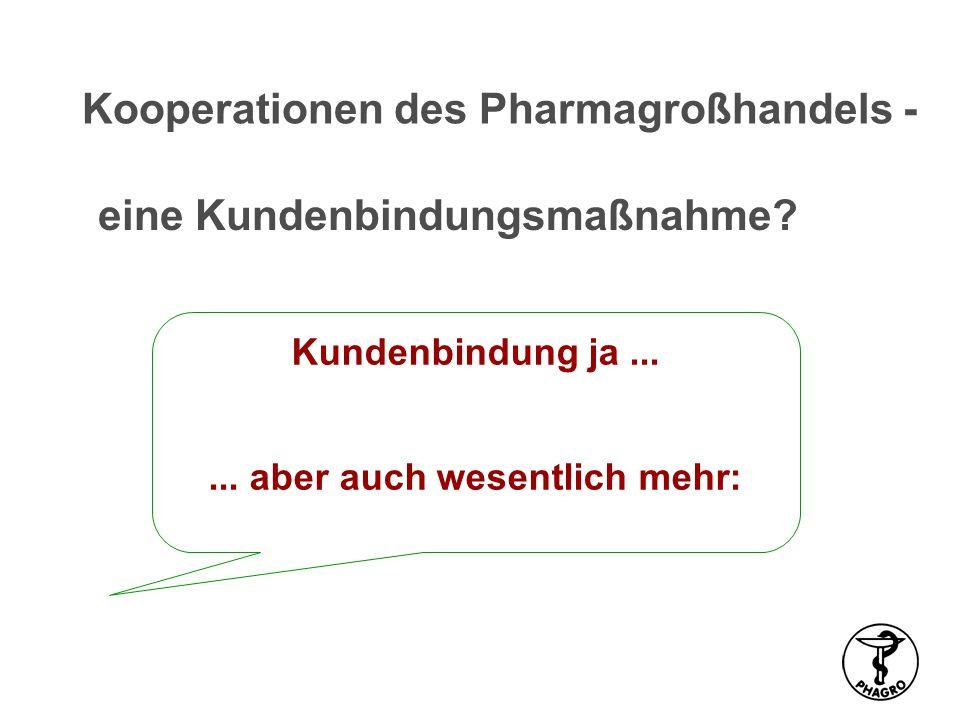 Kooperationen des Pharmagroßhandels - eine Kundenbindungsmaßnahme