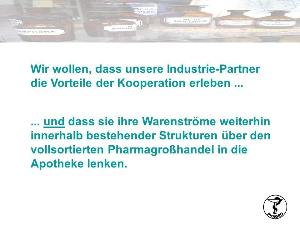 Wir wollen, dass unsere Industrie-Partner die Vorteile der Kooperation erleben ...