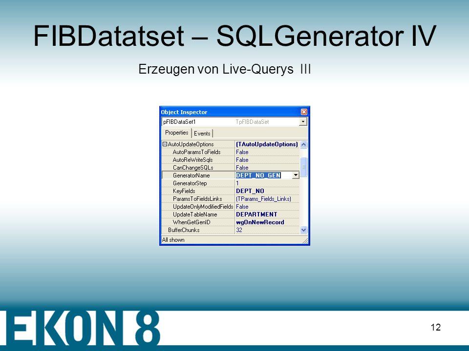 FIBDatatset – SQLGenerator IV