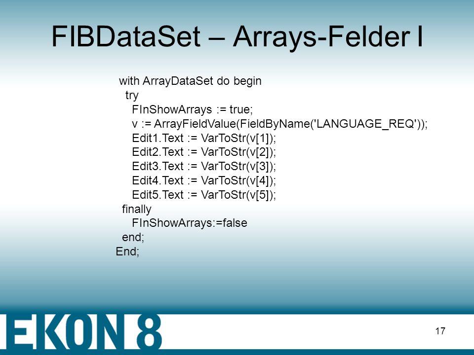FIBDataSet – Arrays-Felder I