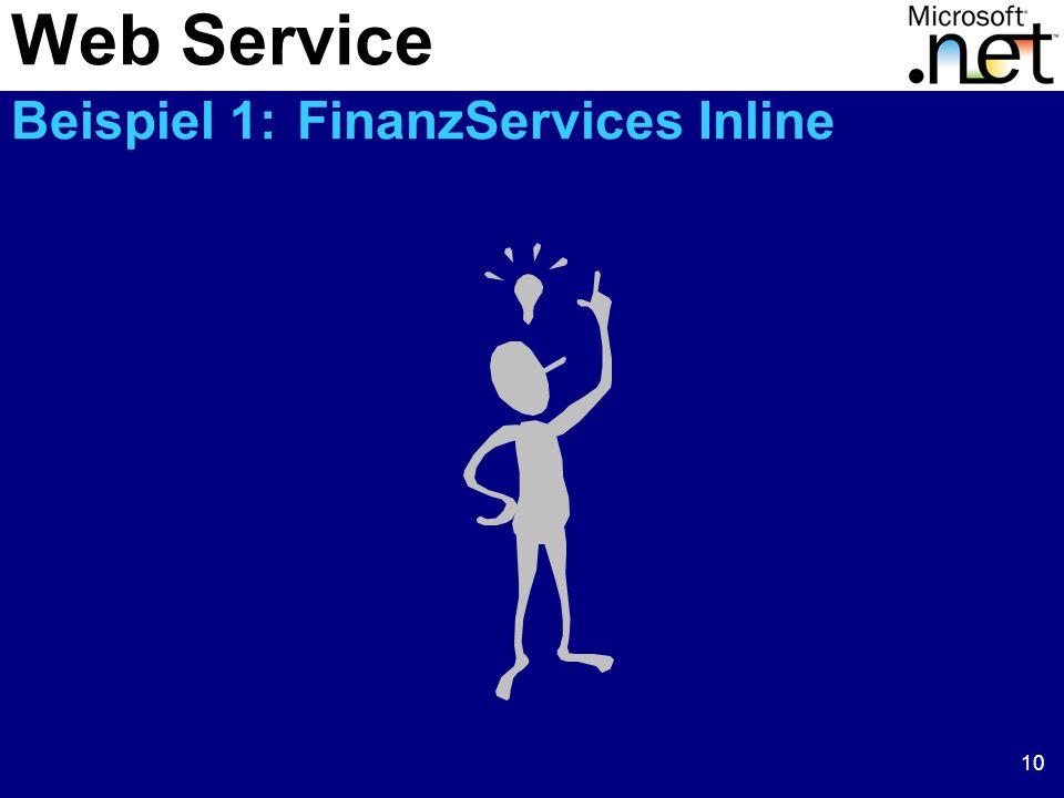 Web Service Beispiel 1: FinanzServices Inline