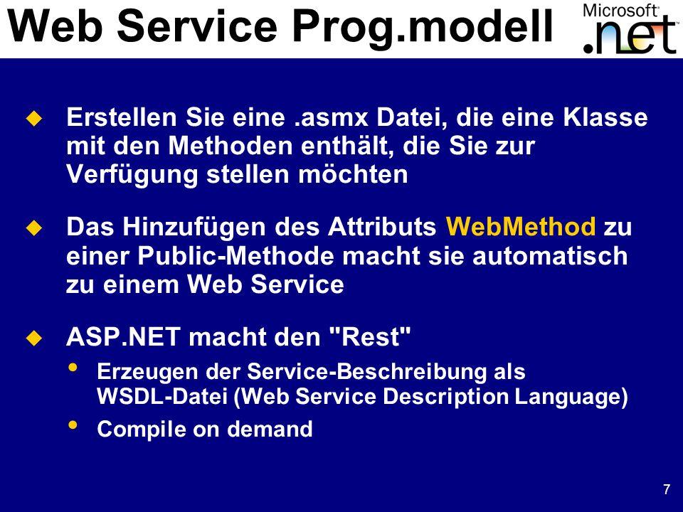 Web Service Prog.modell