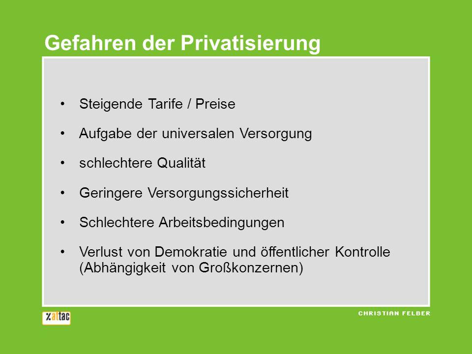 Gefahren der Privatisierung