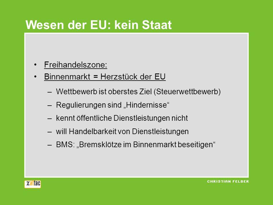 Wesen der EU: kein Staat