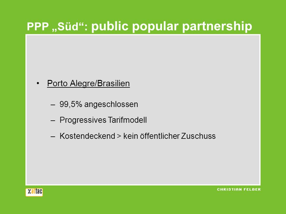"PPP ""Süd : public popular partnership"