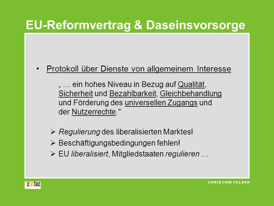 EU-Reformvertrag & Daseinsvorsorge