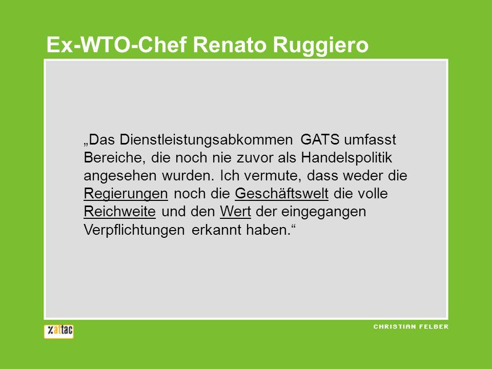 Ex-WTO-Chef Renato Ruggiero