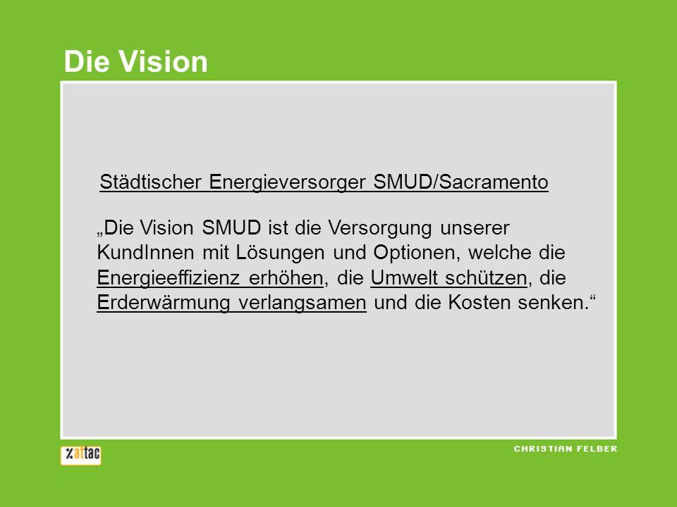 Die Vision Städtischer Energieversorger SMUD/Sacramento