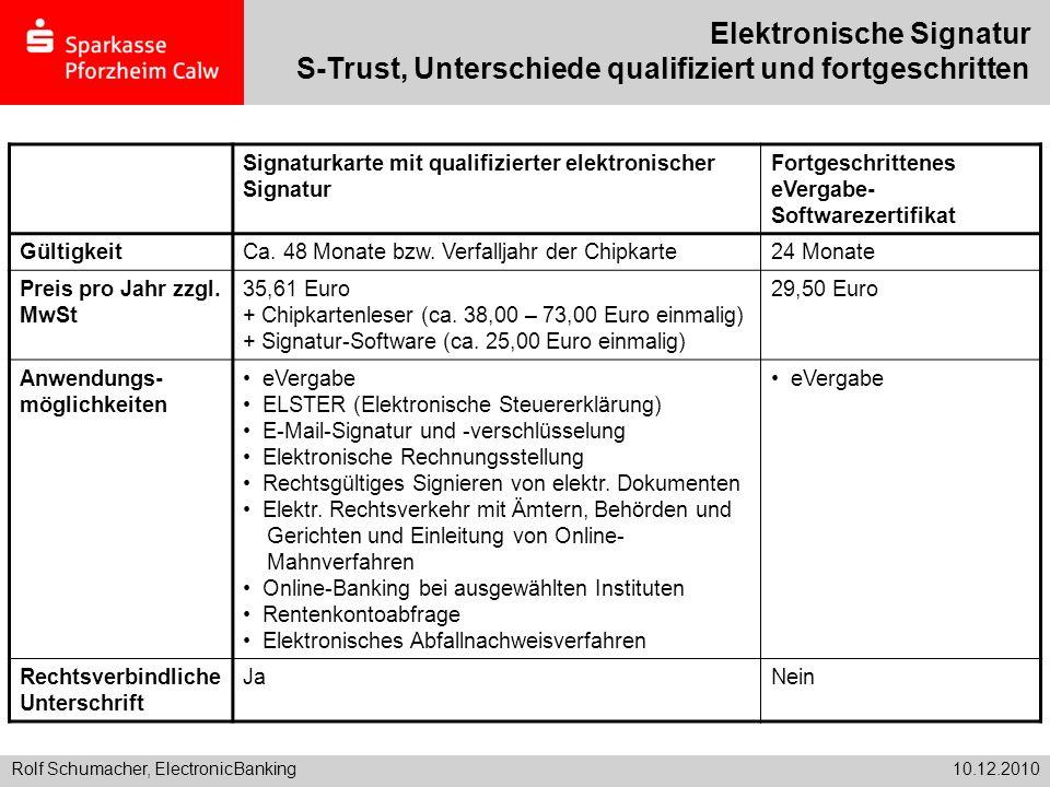 Elektronische Signatur S-Trust, Unterschiede qualifiziert und fortgeschritten