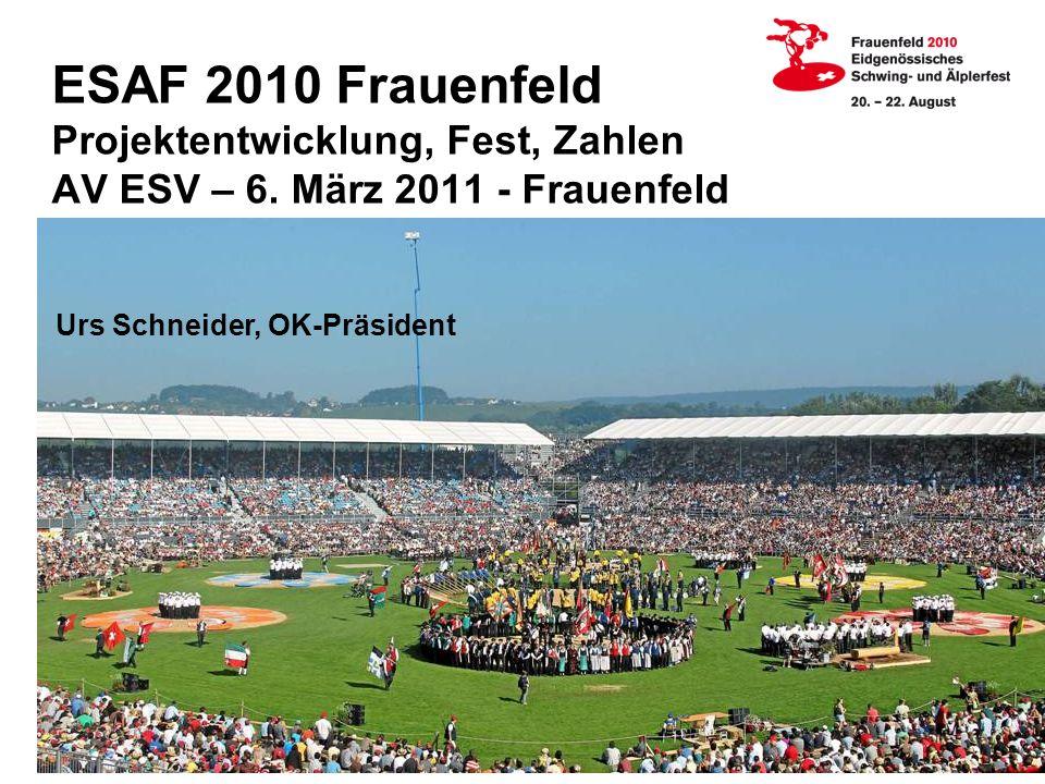 ESAF 2010 Frauenfeld Projektentwicklung, Fest, Zahlen AV ESV – 6