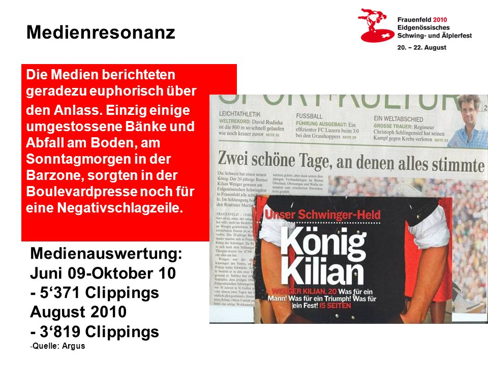 Medienresonanz Medienauswertung: Juni 09-Oktober 10 - 5'371 Clippings