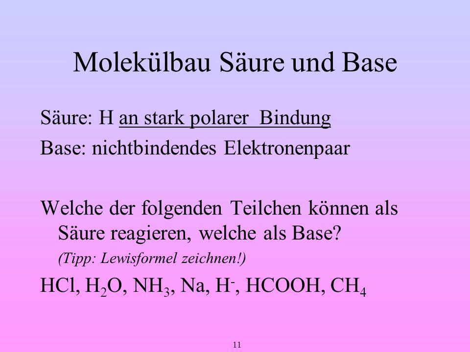 Molekülbau Säure und Base
