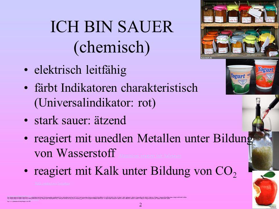 ICH BIN SAUER (chemisch)