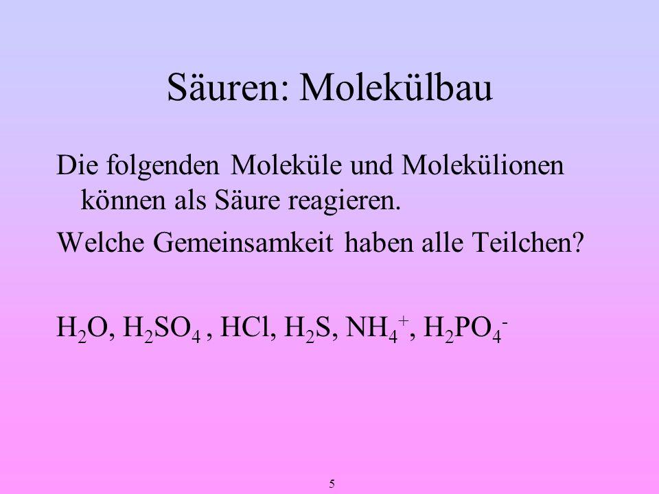 Säuren: Molekülbau