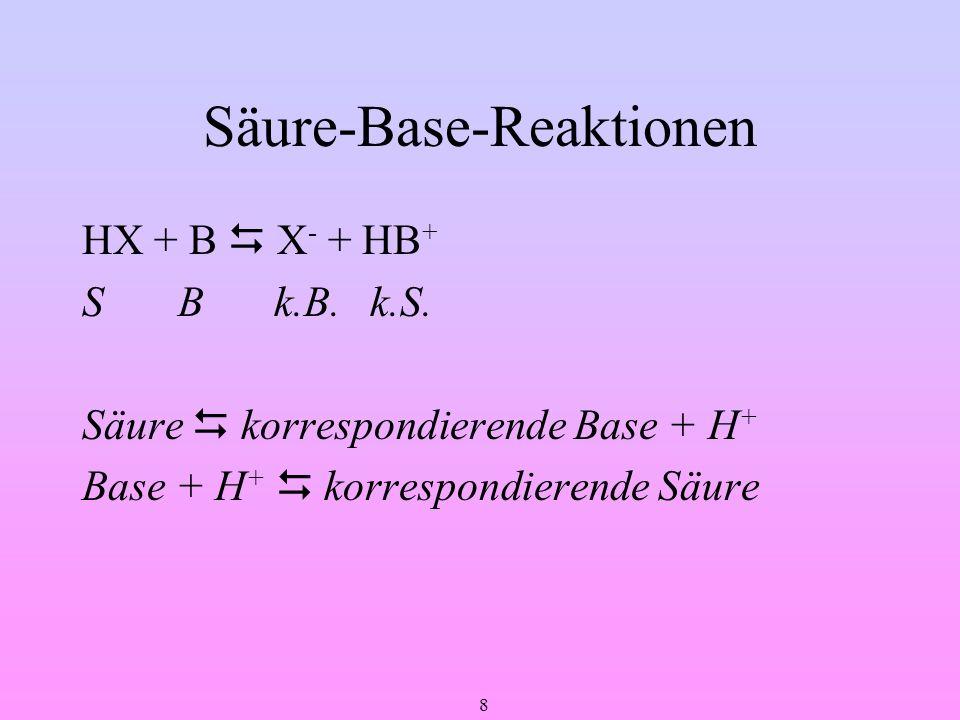 Säure-Base-Reaktionen