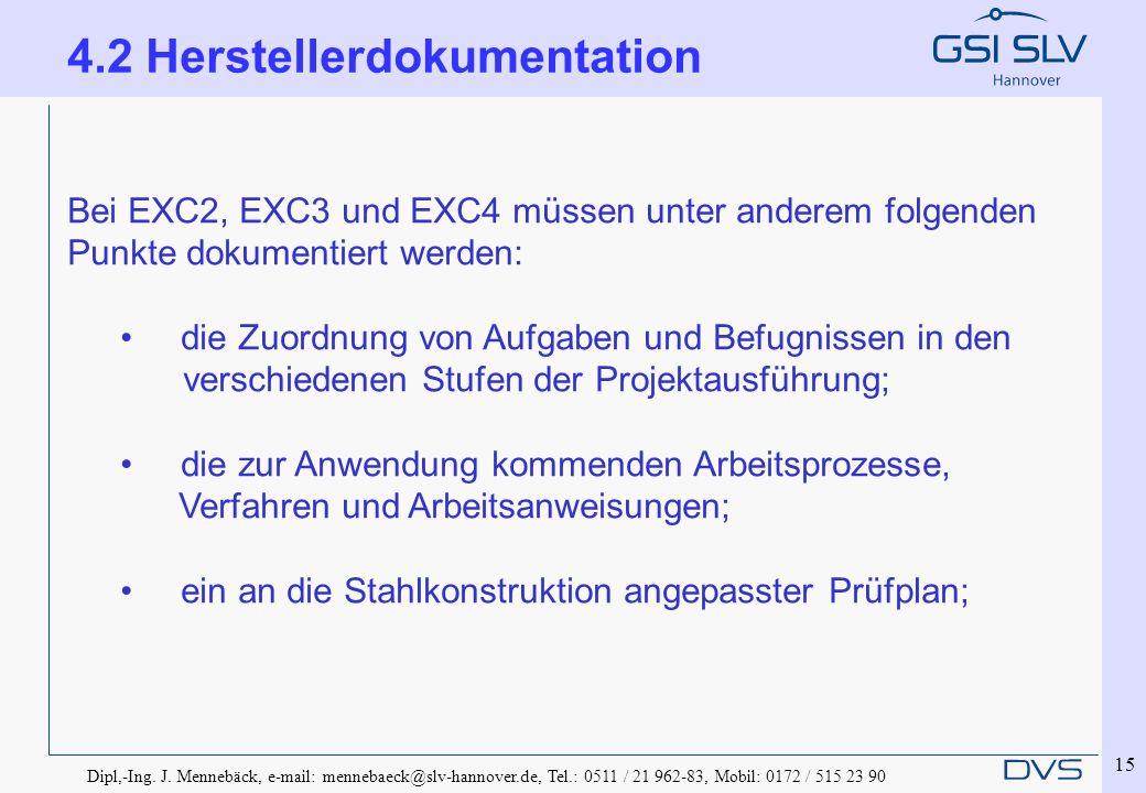 4.2 Herstellerdokumentation