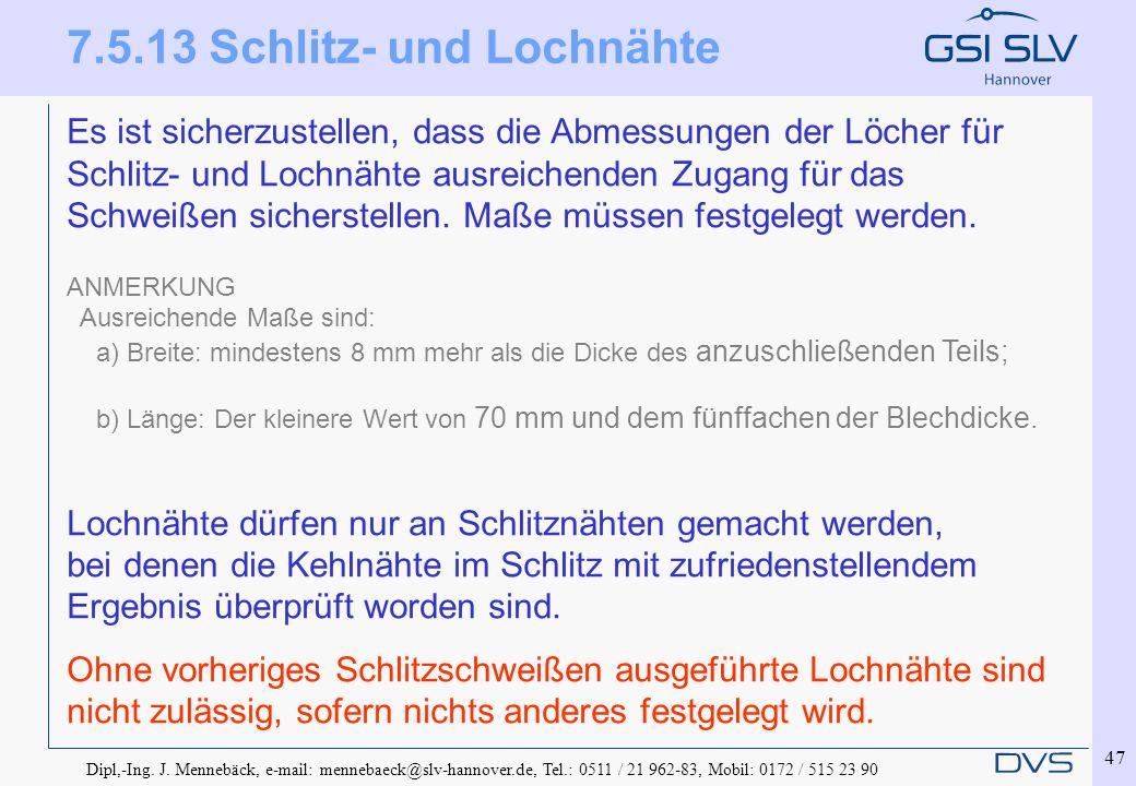 7.5.13 Schlitz- und Lochnähte