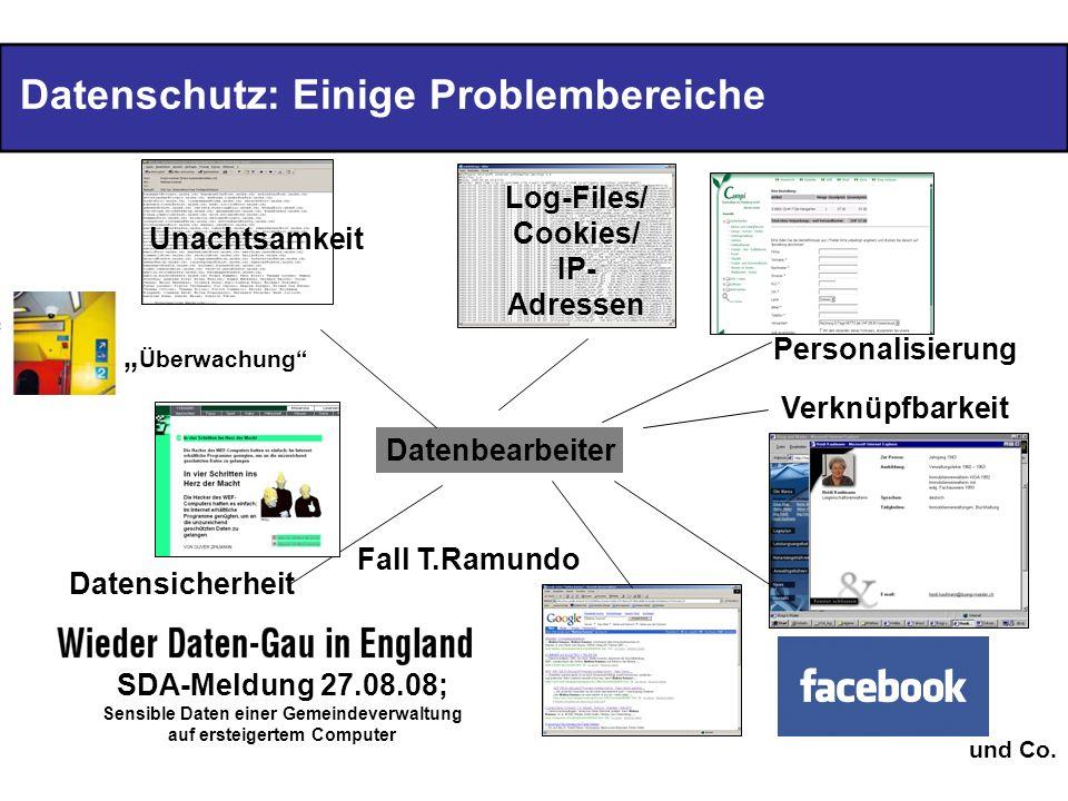 Datenschutz: Einige Problembereiche