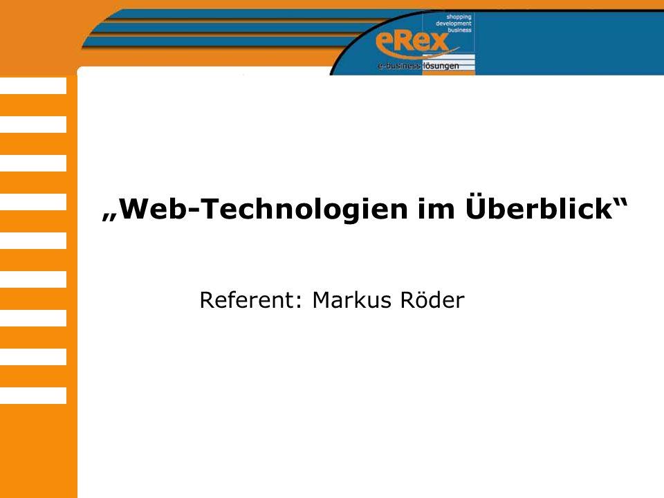 """""""Web-Technologien im Überblick"""