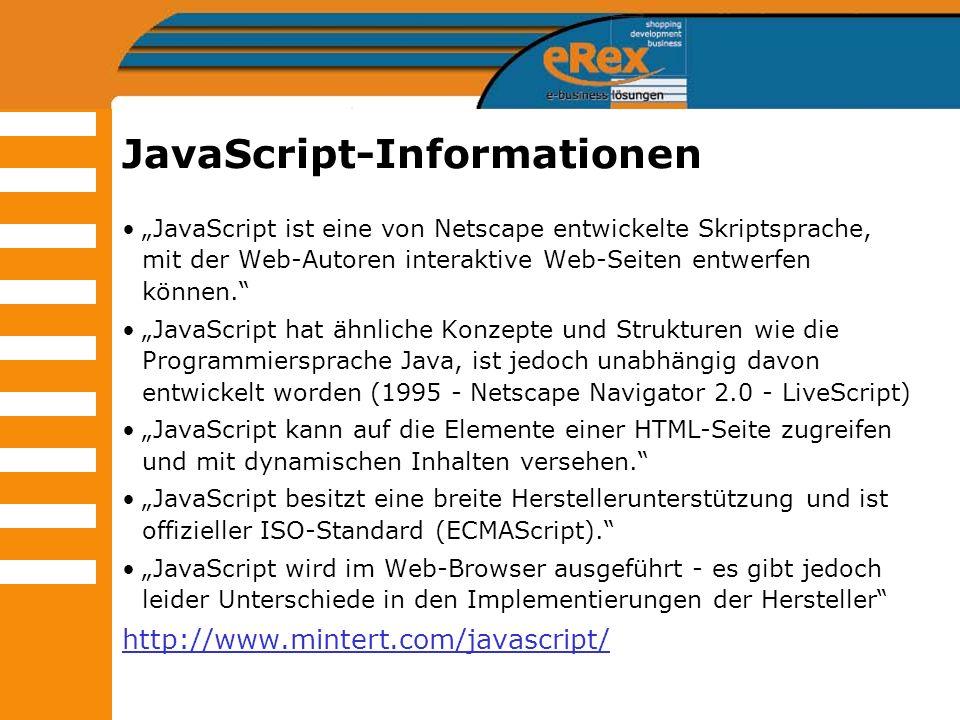 JavaScript-Informationen
