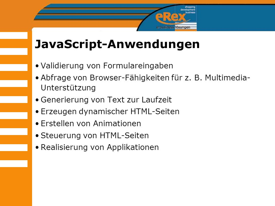 JavaScript-Anwendungen