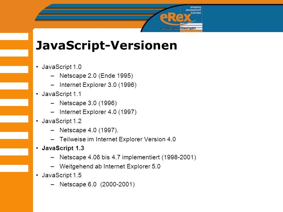 JavaScript-Versionen