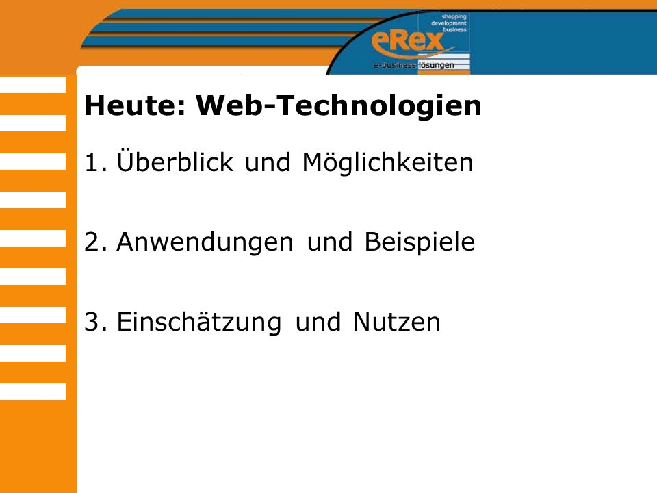 Heute: Web-Technologien