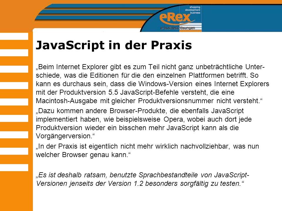 JavaScript in der Praxis