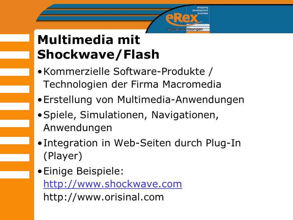 Multimedia mit Shockwave/Flash