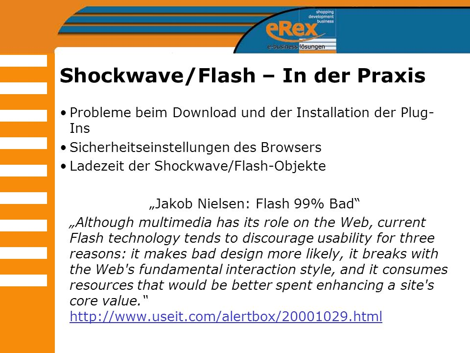 Shockwave/Flash – In der Praxis