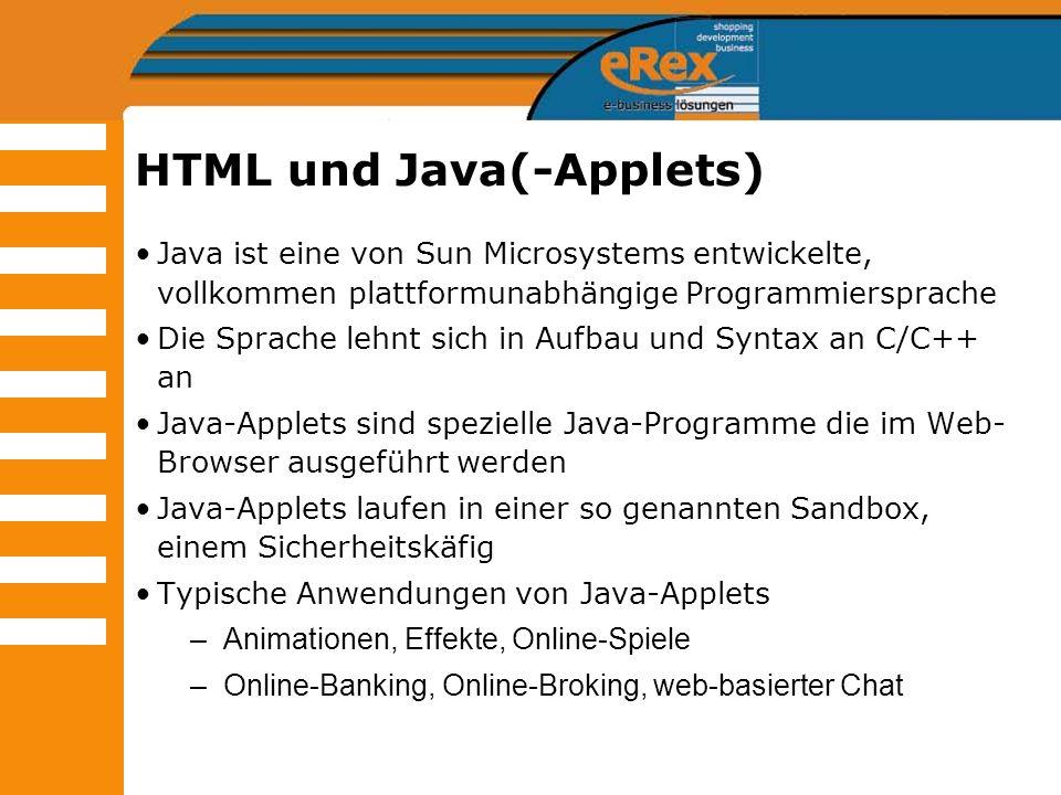 HTML und Java(-Applets)